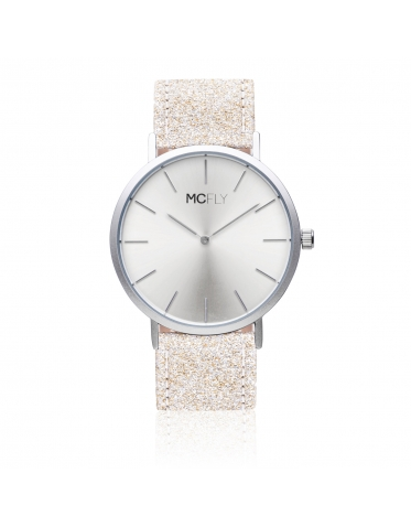 Dandy Glitter Silver - MCFLY Watches