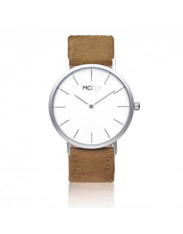 Dandy Silver / White Felt - MCFLY Watches