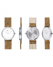 Dandy Silver / White Felt - MCFLY Watches