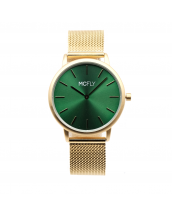 Montres MCFLY Palm Metal Mesh Gold Green