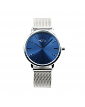 Montres MCFLY Palm Metal Mesh Silver Blue