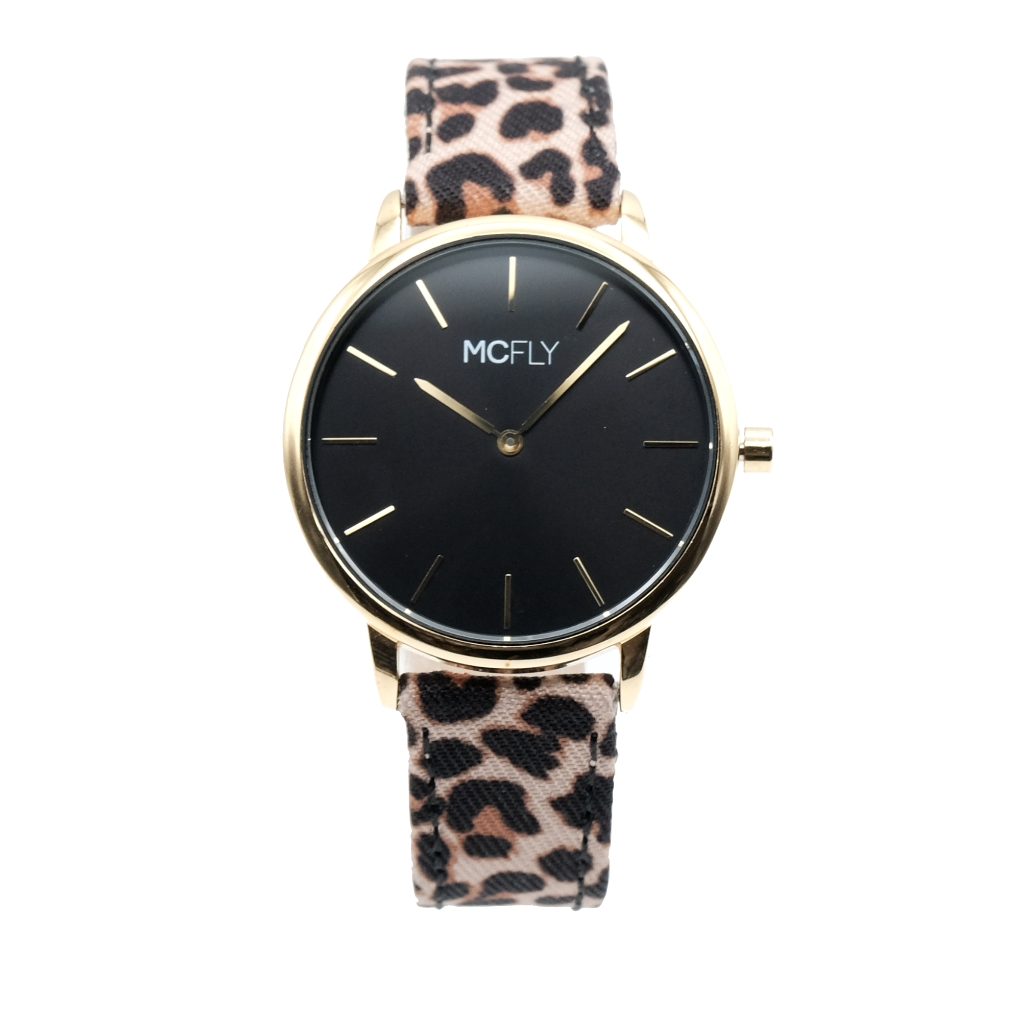 Montres MCFLY Palm Gold Black Leopard