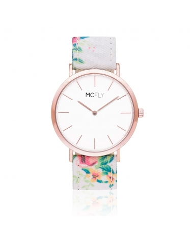 Dandy White Flower Rose Gold - MCFLY Watches