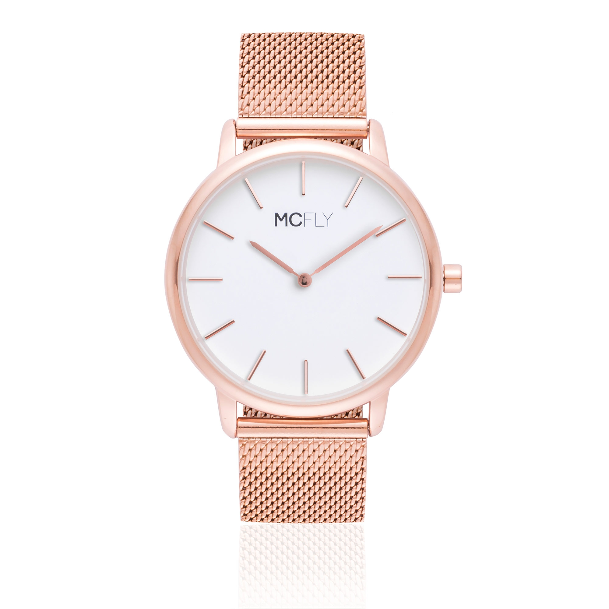 Montres MCFLY Palm Metal Mesh Rose Gold