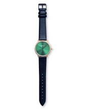 Palm Gold / Green Bracelet Cuir Black