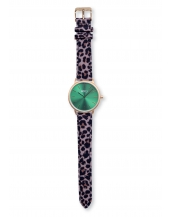 Palm Gold / Green Bracelet Print Leopard