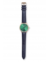 Palm Gold / Green Bracelet Cuir Dark Grey