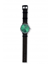 Palm Silver / Green Bracelet Nato Black