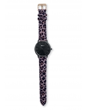 Palm Full Black Bracelet Print Leopard